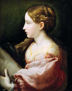 Parmigianino. Saint Barbara, 1522.