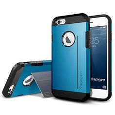 iPhone 6 Case, Spigen® [Kick-Stand] iPhone 6 (4.7) Case Protective [Tough Armor S] [Electric Blue] Dual Layer EXTREME Protection Cover Heavy Duty with Kick-Stand Feature Case for iPhone 6 (4.7) (2014) - Electric Blue (SGP11041) - http://www.rekomande.com/iphone-6-case-spigen-kick-stand-iphone-6-4-7-case-protective-tough-armor-s-electric-blue-dual-layer-extreme-protection-cover-heavy-duty-with-kick-stand-feature-case-for-iphone-6-4-7/