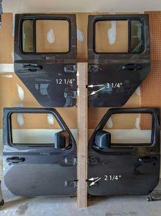 Picture of Measurement Jeep Wrangler Doors, Jeep Doors, Jeep Wrangler Unlimited, Jeep Wrangler Accessories, Jeep Accessories, Jeep Hardtop Storage, Jeep Jku, Jeep Rubicon, Jeep Scrambler