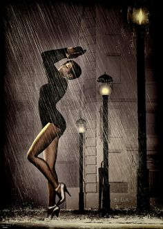 Rain Dance ~ Original fine art by Bob Orsillo  Copyright (c)Bob Orsillo / http://orsillo.com - All Rights Reserved.