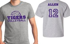 Volleyball Team t-shirt. Customizable team spirit sports tee - add your team, number, or name