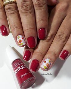 89 Melhores decorações do grupo de Unhas Decoradas Jelsa, Nails, Manicures, Beauty, Beautiful, Red Toenails, Nailed It, Nail Design, Nail Arts