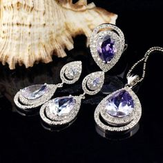 Luxury style crystal jewelry sets