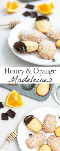 Moist and delicate French cakes flavored with honey and orange. Recipe via MonPetitFour.com