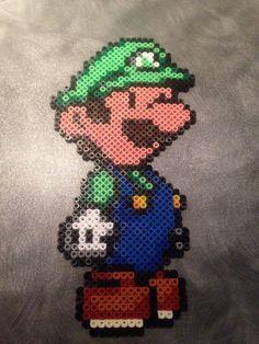 Luigi - Mario brother - hama beads - hama perler