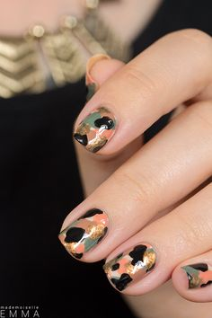 """Cool """"Camoflage"""" Nails"""