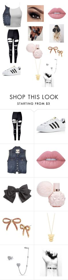 """""""Kids Choice Awards 2016"""" by qveenkenya16 ❤ liked on Polyvore featuring WithChic, adidas, Current/Elliott, Lime Crime, Cara, Betsey Johnson, Gorjana and Bling Jewelry"""