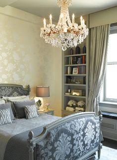 Bedroom. Parisian Chic. Layer Upon Layer Of Pattern Gives This Principal  Bedroom,
