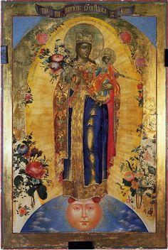 "crypte:  Theotokos, ""Grace-Filled Heaven""Ivan Prokhorovich Chernobrovin19th century"