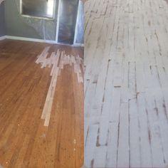 before and after painteddistressed wood floors - White Distressed Wood Flooring