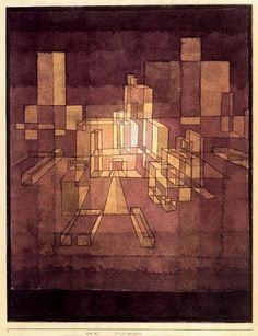 """""""Urban Perspectve"""" 1928. Paul Klee"""