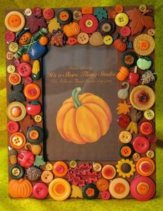 The Best DIY and Decor Place For You: Fall Buttons Craft Idea