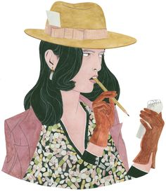 I am fascinated by the color and patterns in Riikka Sormunen illustrations.