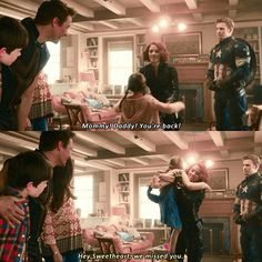 {Romanogers AU}AU where Clint and Laura took care of Steve and Nat's daughter while they were on a mission  Just imagine them having children  I want James Rogers to be real in the MCU <<-- Same ☺♥