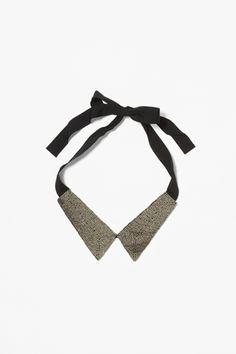 COS beaded neck collar