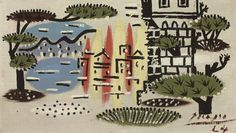 Pablo Picasso (1881-1973), Paysage a Juan-les-Pins 1924 (18,4 x 33 cm) on ArtStack #pablo-picasso-1881-1973-2 #art