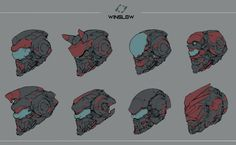 ArtStation - Winslow helmet, Ching Yeh