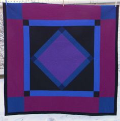 amish quilt finished machine pieced hand quilted by lynda ericksen. Amische Quilts, Star Quilts, Quilt Blocks, Amish Quilt Patterns, Purple Quilts, White Quilts, Texas Quilt, History Of Quilting, Quilting Designs