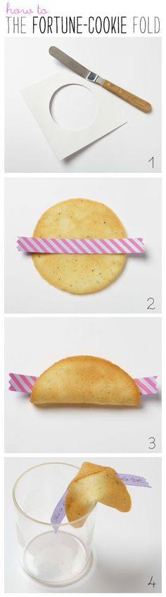 How to Fold a Homemade Fortune Cookie + the delicious recipe!