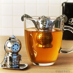 These Character Tea Infusers bring some fun to tea time and make it less of a snooze-fest, in addition to infusing your tea with that intoxicating caffeine-laced flavor that kicks you awake.