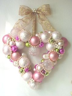 Enchanted Rose Studio: ORNAMENT WREATH ~ PINK SATURDAY