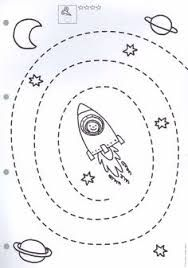 Preschool Counting Worksheets - Space theme for Preschool Space Preschool, Preschool Centers, Space Activities, Preschool Learning Activities, Kids Learning, Cutting Activities, Free Preschool, Tracing Worksheets, Kindergarten Worksheets