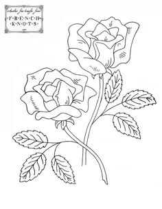 embroidery - roses, free patterns
