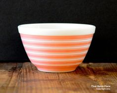 Pyrex 'Rainbow Stripe' #401 nesting bowl (c. 1965-68)