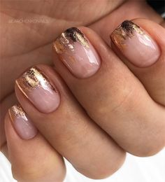 80 ideas to create the best Halloween nail decoration - My Nails Fancy Nails, Cute Nails, My Nails, Stylish Nails, Trendy Nails, Acrylic Nail Designs, Acrylic Nails, Foil Nails, Nails With Foil