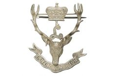 Badge. Scottish. Seaforth Highlanders (Ross-shire Buffs, The Duke of Albany's) Officer's 1918 hal