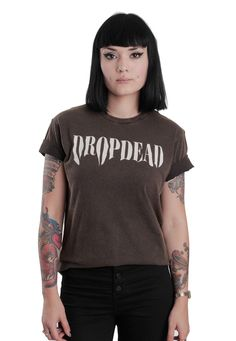 Drop Dead - Smudge Faded Black With Wash - T-Shirt - Official Streetwear Online…