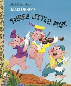The three little pigs have never looked so cute and the big bad wolf never looked so bad in this retelling of the classic fairy tale! Vintage Disney artwork from the makes this book an important addition to every Little Golden Book collector's library. Jim Henson, Book Publishing Companies, Classic Fairy Tales, Joelle, Disney Artwork, Three Little Pigs, Little Golden Books, Vintage Children's Books, Vintage Artwork