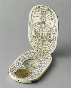 Компас с солнечными часами, Нюрнберг, XVIII век