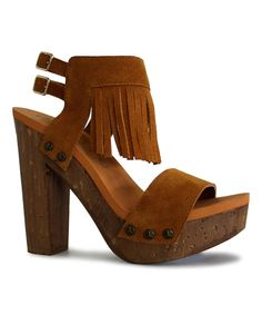 This Cognac Midnight Sandal by Groove Footwear is perfect! #zulilyfinds