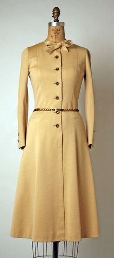 Dress House of Chanel (French) ca. early 1970s wool, metal, faux gems