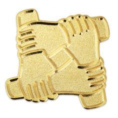 Arm To Arm Teamwork Pin, Teamwork Pins, Team Pins   PinMart | PinMart