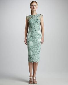 Mandalay Embroidered Lace Cocktail Dress in Green (new mint)