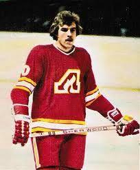 Bill Clement wearing the Atlanta Flames uniform.