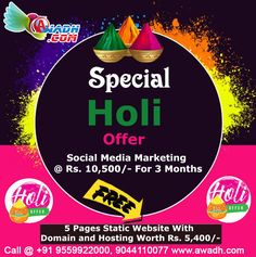 Website Designing in Lucknow, SEO in Lucknow, Domain Registration in Lucknow, Web Hosting in Lucknow Social Media Marketing Companies, Online Marketing, Holi Offer, Website Promotion, Free Website, Seo Services, App Development, Festive, Web Design