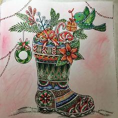 Merry Christmas !#decembercoloralong @coloring_my_corner @rita.berman . #ritabermancoloringbooks #ritaberman #meinwinterspaziergang #mywinterwalk #christmas #advent #december #coloring #colouring #arttherapy #becreative #creativelifehappylife #coloringbook #coloringforadults #adultcoloringbook #pencils #derwent #derwentinktense