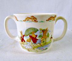 Vintage Child's Mug Royal Doulton Bunnykins 2 by GSaleHunter