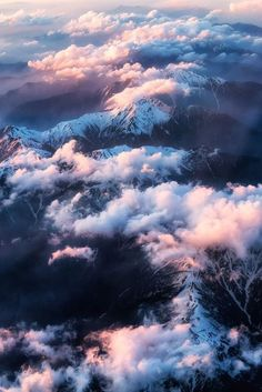 clouds, mountains, sky ve nature
