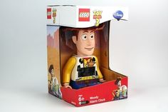 LEGO Disney Pixar Toy Story 3 Woody Alarm Clock NEW IN BOX This Disney/Pixar Toy Story clock gets your kid out of bed the Roundup Gang way. Featuring a handy alarm with snooze function, this kids' po