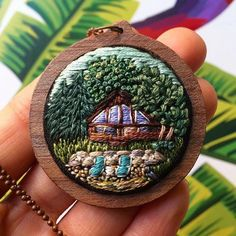 Tiny embroidery by Irem Yazici - Ярмарка Мастеров - ручная работа, handmade