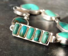 SALE Artisan Jewelry, Turquoise and Silver Bracelet, Silver Bezel Set Turquoise, Urban Chic Style, Sundance Style, Double Wire Wrapped, Silver
