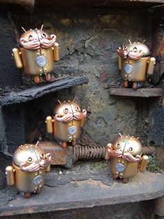 Steampunk Toys: Any Army Of Steampunk Androids!