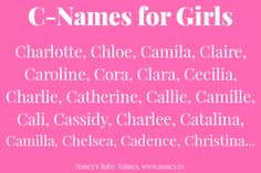"""Looking for G-names for baby girls? Here are the most common G-names for baby girls in the United States. These are what you might call """"modern American names"""" in that each of these has… C Names For Girls, B Girl Names, G Names, Unique Girl Names, Cute Baby Names, Cool Names, Weird Names, Unique Baby, Pretty Names"""