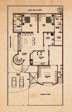 House Plans - Vastu for West Facing House Plan, , 10 Marla House Plan, 2bhk House Plan, Simple House Plans, Model House Plan, Duplex House Plans, House Layout Plans, New House Plans, House Layouts, House Floor Plans