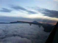 El Teide. Airplane View, Heavens
