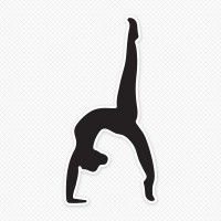 Solid Black Gymnast Silhouette